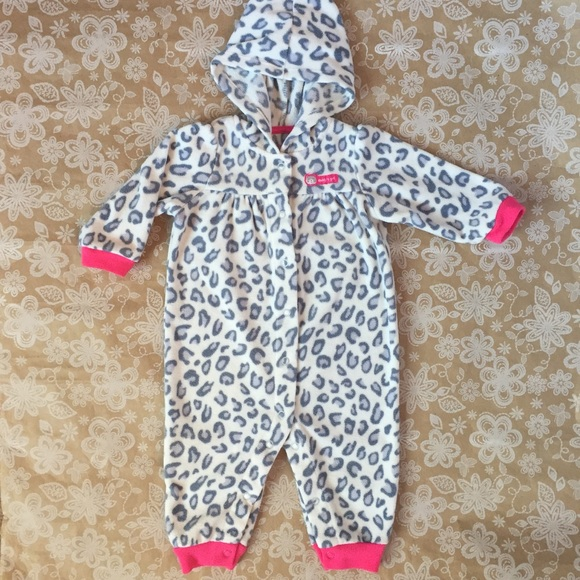 d729fb89d5 Carter s Hooded Girls Cheetah Print Bodysuit